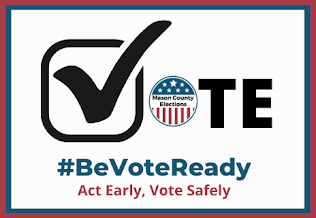 Be Vote Ready Logo A check mark that makes the V of Vote.  Act Early, Vote Safely.