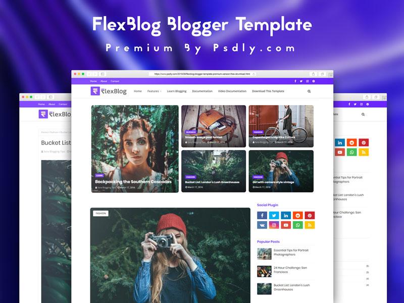 Download Free FlexBlog Blogger Template Premium Version