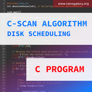 C Program to Simulate C-SCAN Disk Scheduling Algorithm | Logic Explained