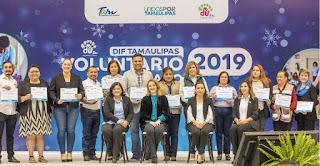 Mariana Gómez entrega premio a los voluntarios del año y reconoce a los voluntarios de corazón de Tamaulipas
