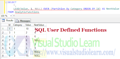SQL User Defined Functions