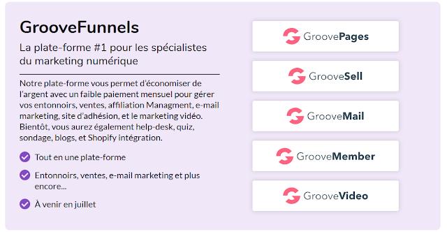 Examen GrooveFunnels : Caractéristiques, Avantages, Inconvénients & Offre à vie (2020)