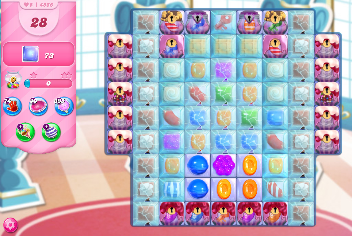 Candy Crush Saga level 4836