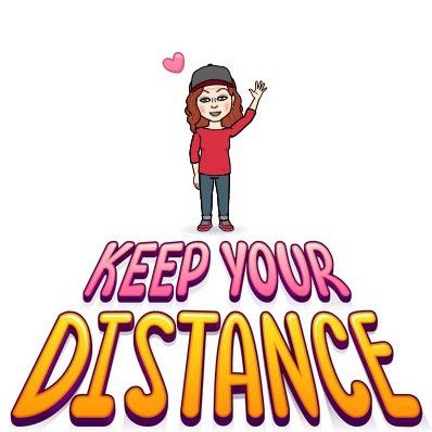 "Bitmoji ""Keep your distance"""