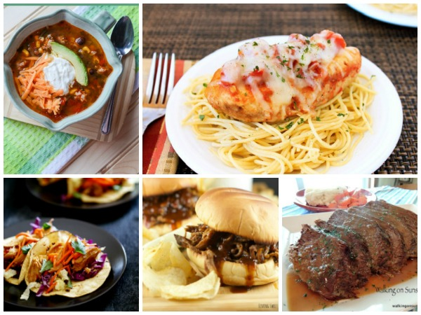 Slow Cooker Recipes - Weekly Menu Plan - Walking on Sunshine Recipes