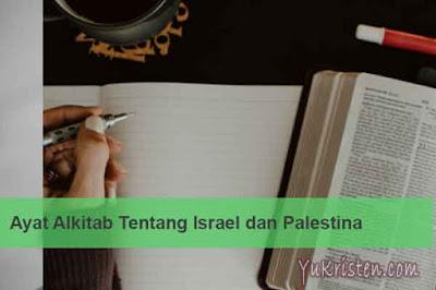 ayat alkitab tentang israel dan palestina