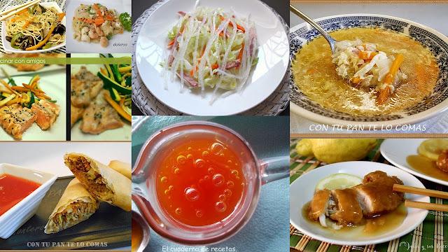 Excelentes platos de comida china. Julia y sus recetas