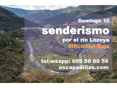 Remontando el rio Lozoya con el grupo de senderismo y experiencias solidarias - escapadillas.com