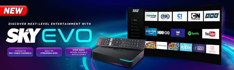 SKY launches Evo Box Digibox with Android TV functionalities, built-in OTT apps, and over 190 channels!