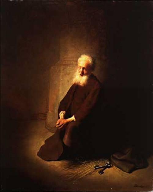 São Pedro Na Prisão, pintura de Rembrandt.