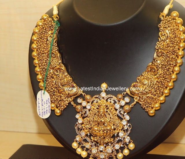Heavy Nakshi Work gold Necklace