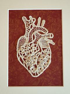 Anatomical heart lace