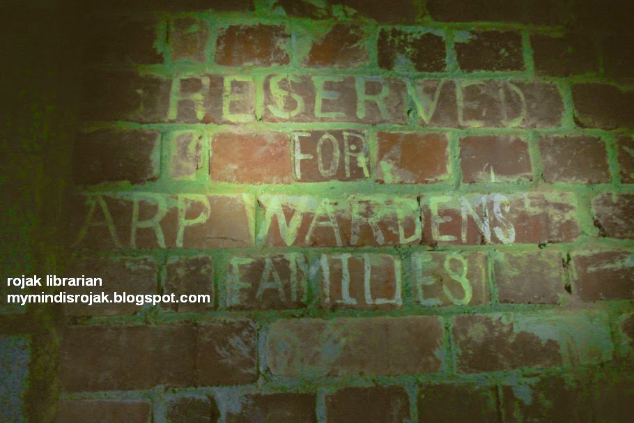 Reserved for ARP Wardens Families -Tiong Bahru Air raid shelter