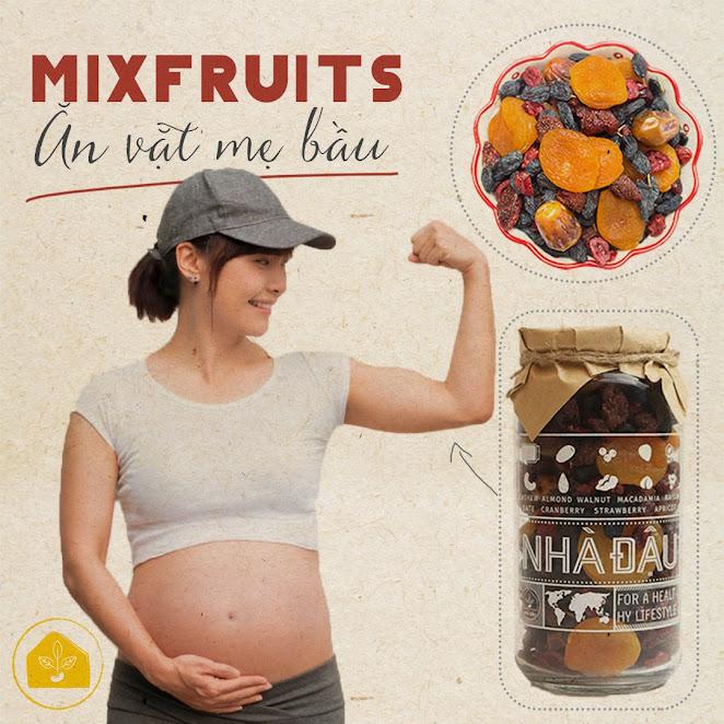Mixfruits ăn vặt dinh dưỡng cho Bà Bầu và thai nhi