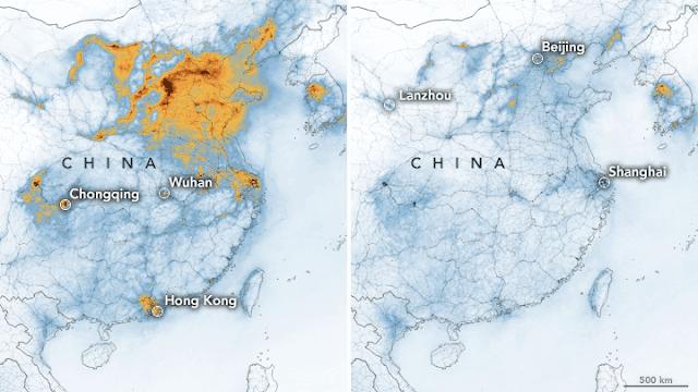 Umweltverschmutzung China Corona