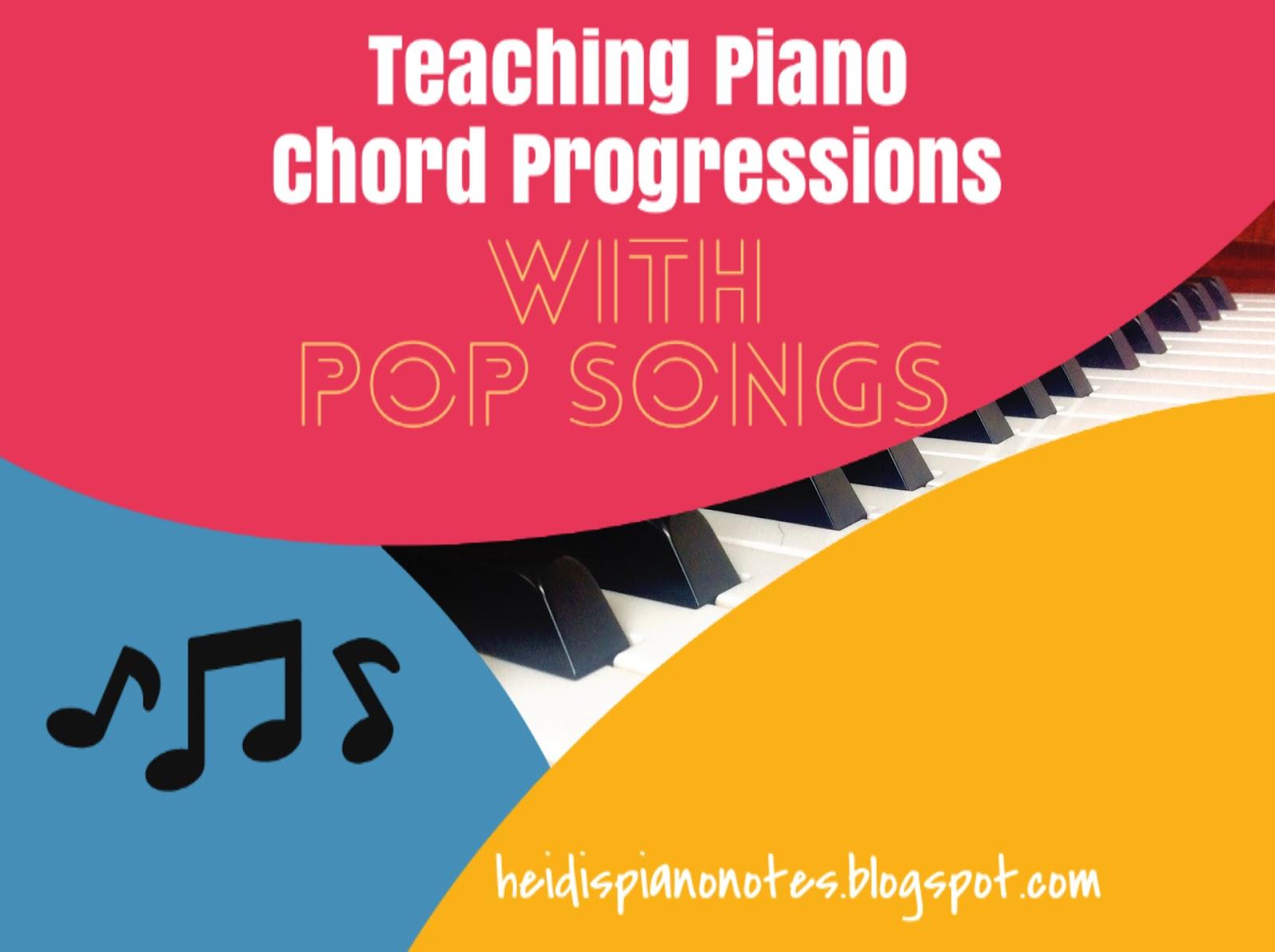 Heidi's Piano Studio: Teaching Piano Chord Progressions with