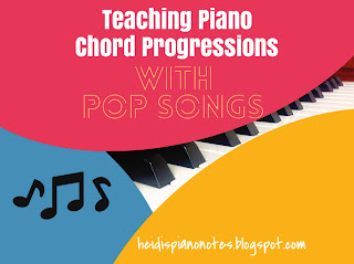 Teaching Piano Chord Progressions with Pop Songs as Backing Tracks from youtube