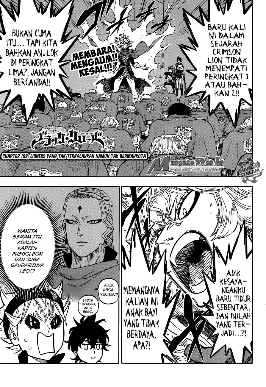 Black Clover Chapter 108 Bahasa Indonesia