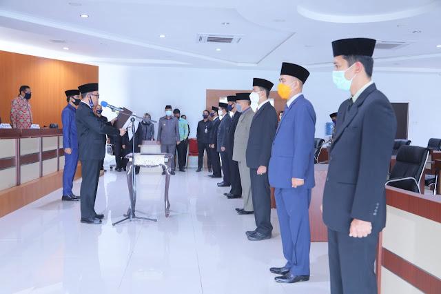 Bupati Adipati Lantik Pejabat Admin dan Pejabat Tinggi Pratama di lingkungan Pemkab way kanan