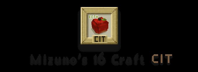 Mizuno's 16 Craft CIT