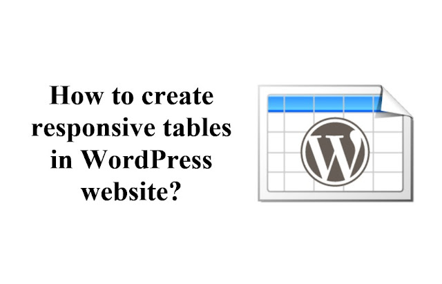 How to create responsive tables in WordPress website