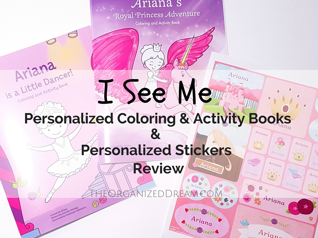 i received two awesome coloring books and one beautiful sticker sheet lets start with the personalized princess coloring and activity book and princess - Personalized Coloring Book