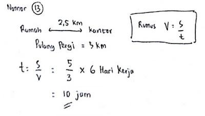 Latihan Soal Psikotes Matematika dan Jawabannya 13