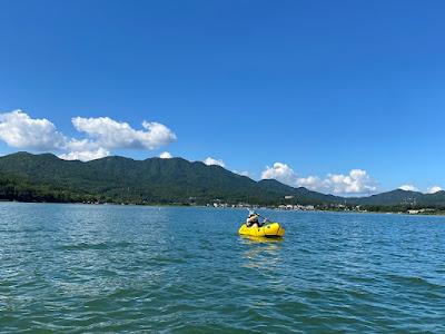 パックラフト、ココペリのローグライトを漕ぐ