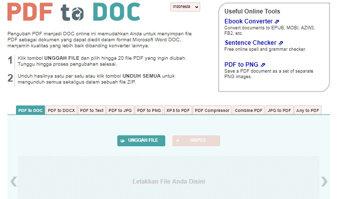 Situs Terbaik untuk Mengubah file PDF ke Word secara Online - Pdf2Doc