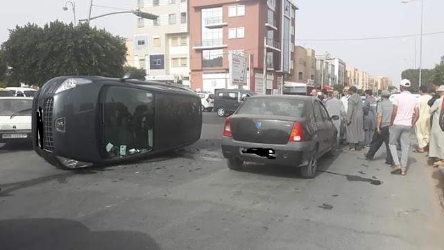 تيزنيت :خليفة قائد قيادة اربعاء رسموكة بالمعدر ينجو من الموت بأعجوبة في حادث سير ( صور )