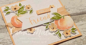 Stampin up sweet as a peach