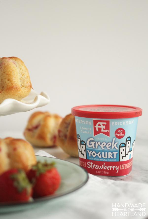 Strawberry Yogurt Muffin Recipe with #AEDairy Greek Yogurt
