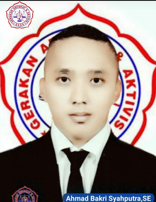 Ketua DPC GAAS Kota Medan Ahmad Bakri Syahputra S.E Ucapkan Selamat Kepada Ketua DPD GAAS Sumut Terpilih