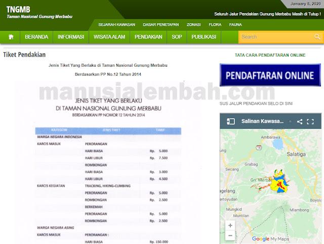 cara booking online pendakian gunung merbabu