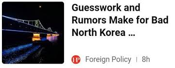 Guesswork and Rumors Make for Bad North Korea Policy Plugin-GO