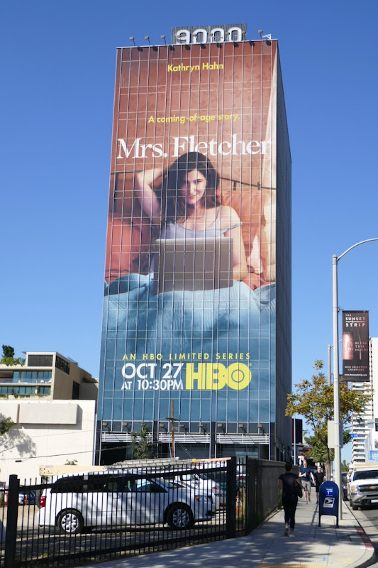Giant Mrs Fletcher limited series billboard