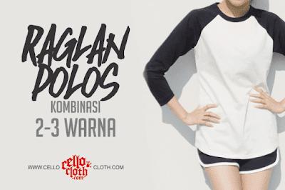 Harga Raglan Polos Kombinasi 2 Warna 3 Warna Custom by Request