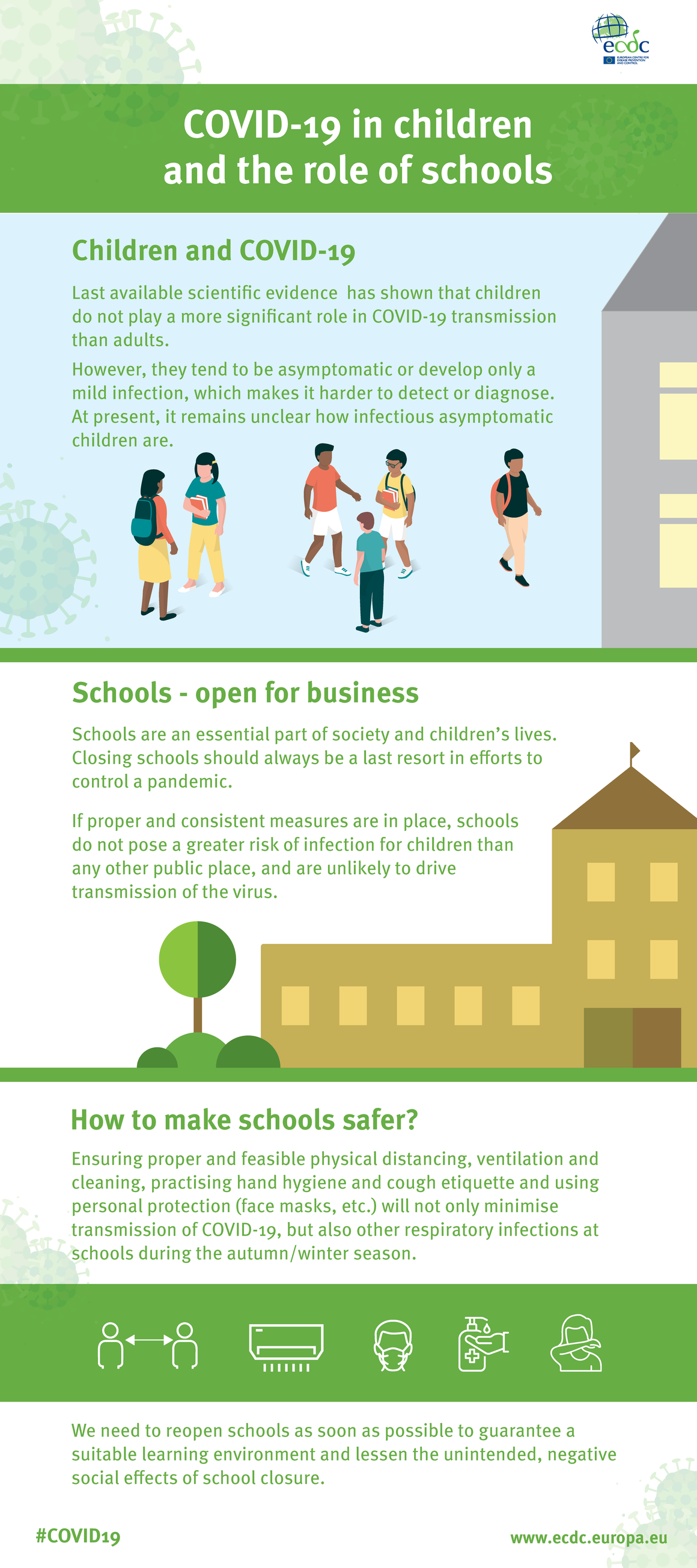 COVID-19 in children and the role of schools #Infographic