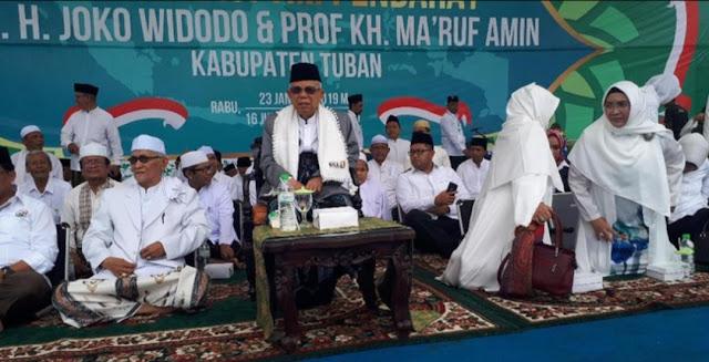 KH Ma'ruf Amin soal Capaian Jokowi: Kalau Tidak Lanjut, Apa Jadinya?