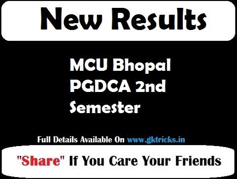 MCU Bhopal PGDCA 2nd Semester