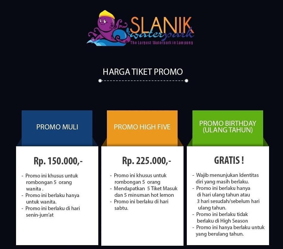 Promo Slanik Waterpark Lampung