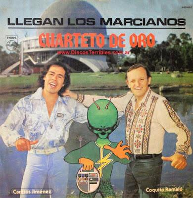 Cuarteto de Oro - Llegan los marcianos / Discos Terribles