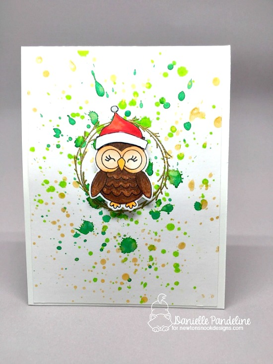 Christmas Favorites Week - Day 4  | Owl Christmas card by Danielle Paneline | What a Hoot Stamp Set by Newton's Nook Designs #newtonsnook #christmascards