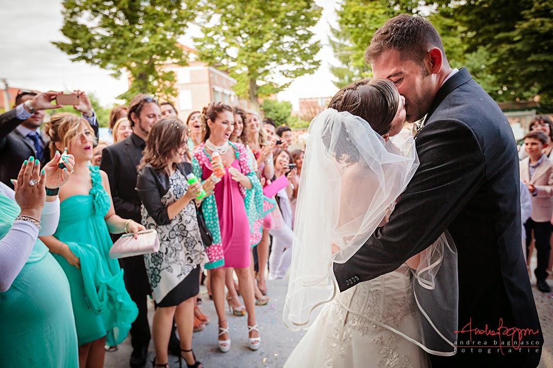 bacio degli sposi matrimonio Alessandria