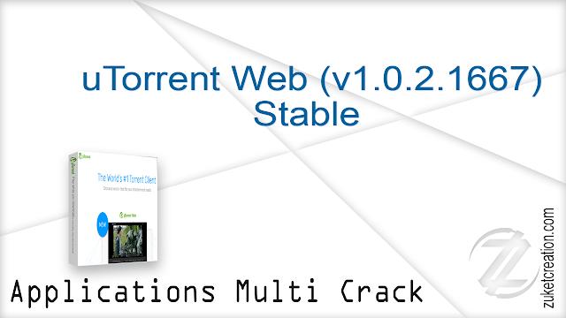 uTorrent Web (v1.0.2.1667) Stable