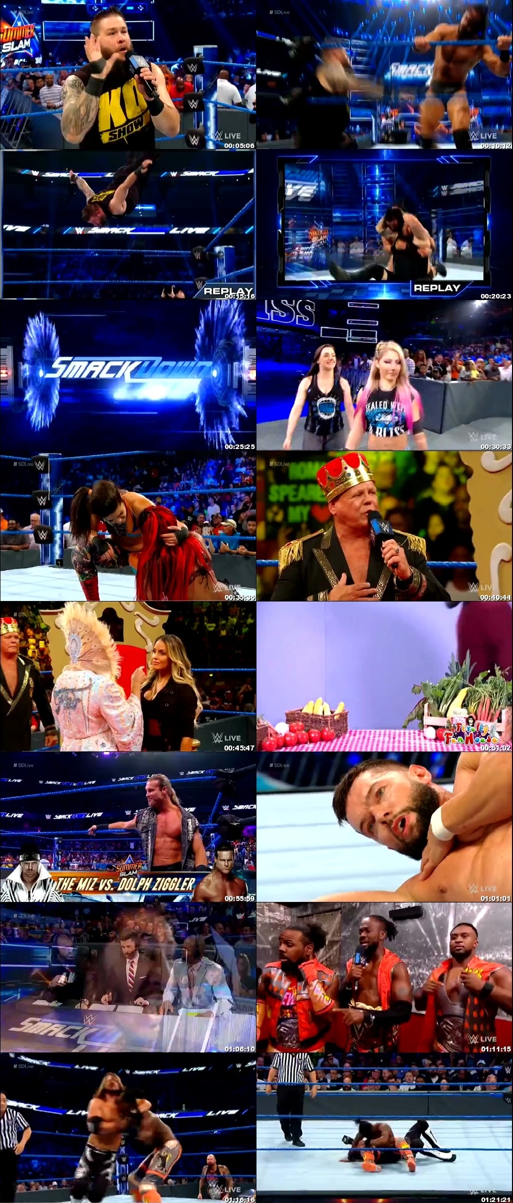 Screen Shot Of WWE SmackDown Live 30th July 2019 HDTV 480P 300MB