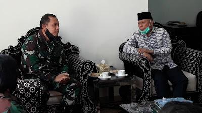 Courtesy Call Danlanal Mataram Kunjungi Bupati Lombok Timur