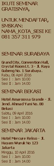 jadwal seminar cipto junaedy april 2016