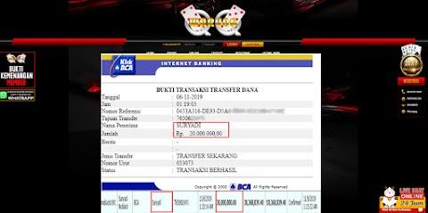 Selamat Kepada Member Setia WARUNGQQ Withdraw RP 20.000.000