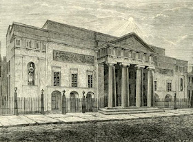 Covent Garden Theatre in 1850 from Old and New London (1873)